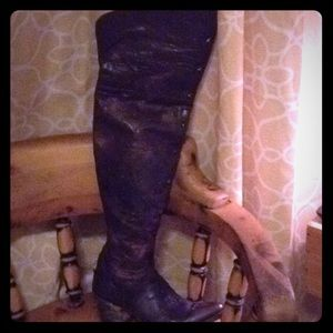 Thigh High OLD GRINGO Studded Brown Boots